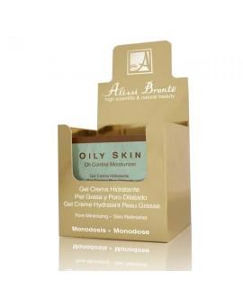 OILY SKIN Gel-Crema Hidratante Piel Grasa. 20 monodosis x 5 ml