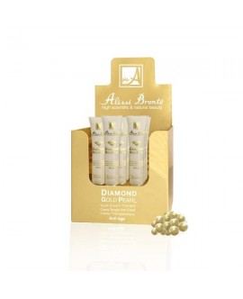 KIT DIAMOND GOLD PEARL CREMA TERAPIA  ANTI EDAD 50 ml + MINITALLA 20 20ml ALISSI BRONTE